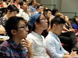 A rapt audience!