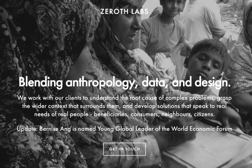 Zeroth Labs Webpage